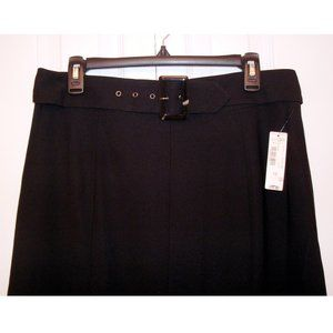 East 5th Long Black Belted Skirt, size 12